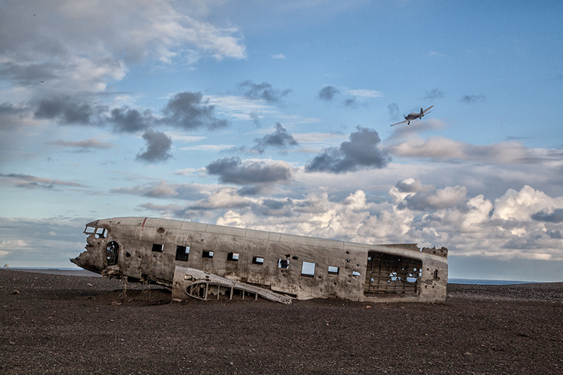 Flugzeugwrack in Solheimasandur