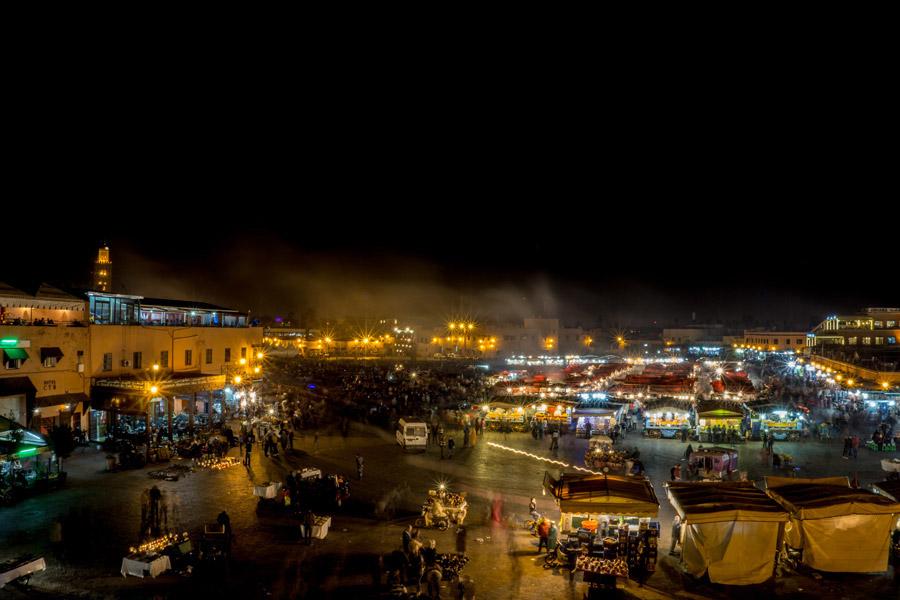 Jemaa al Fna bei Nacht