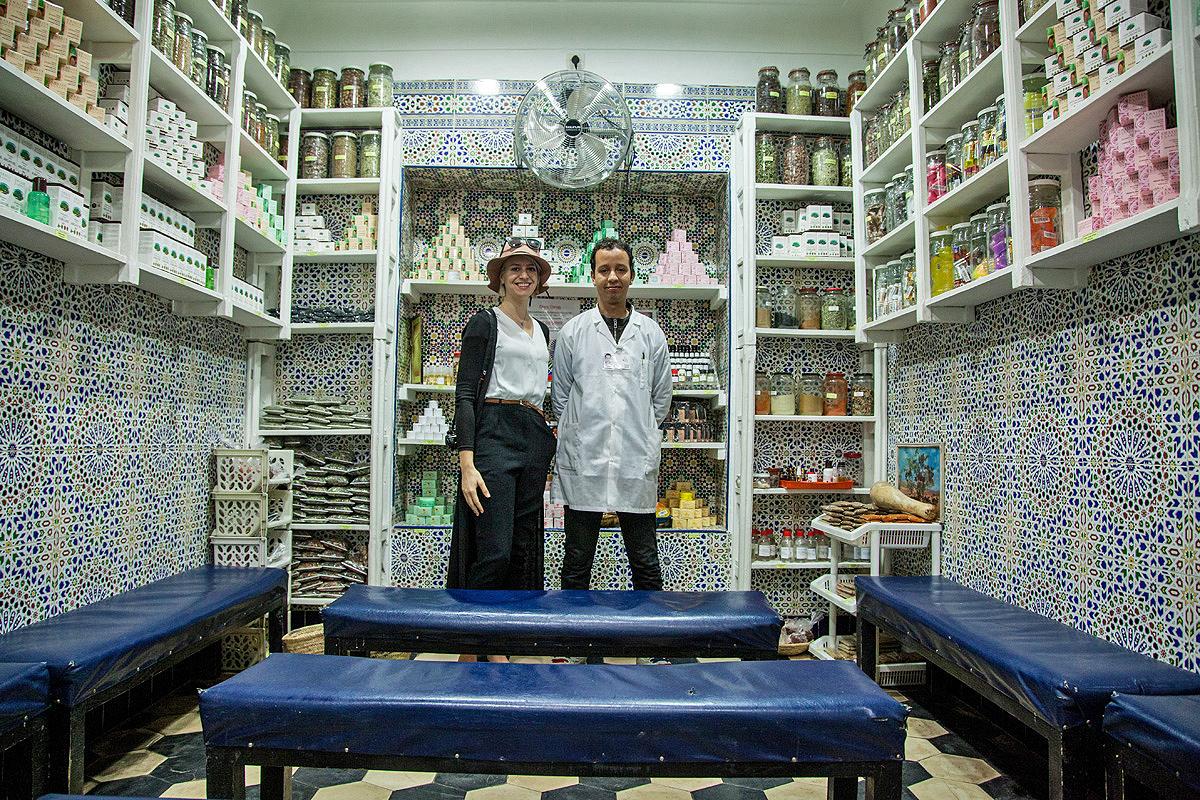 Kräuterhändler in Marokko