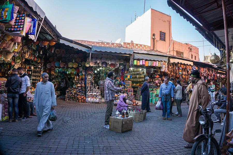 Souks in Marrakesch