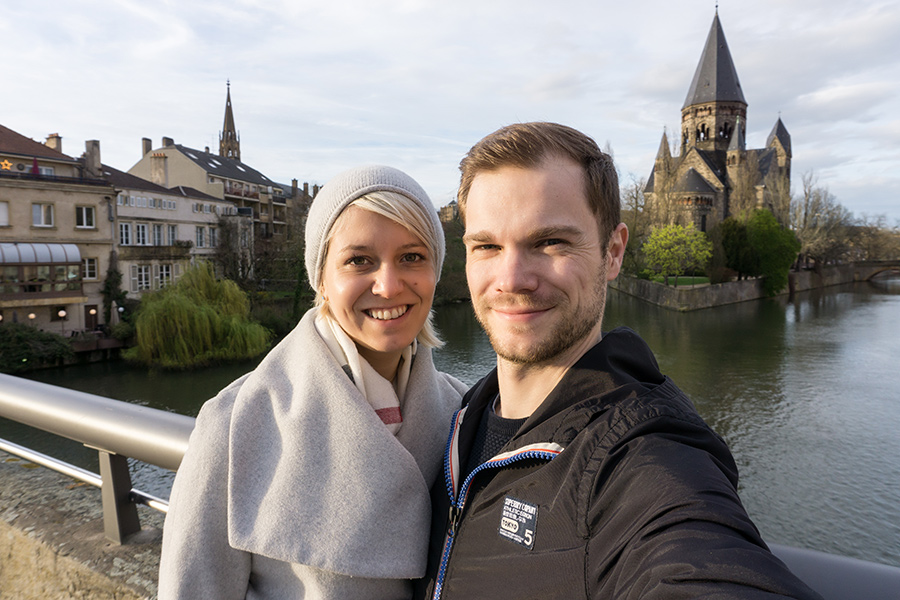 Katharina und David in Metz