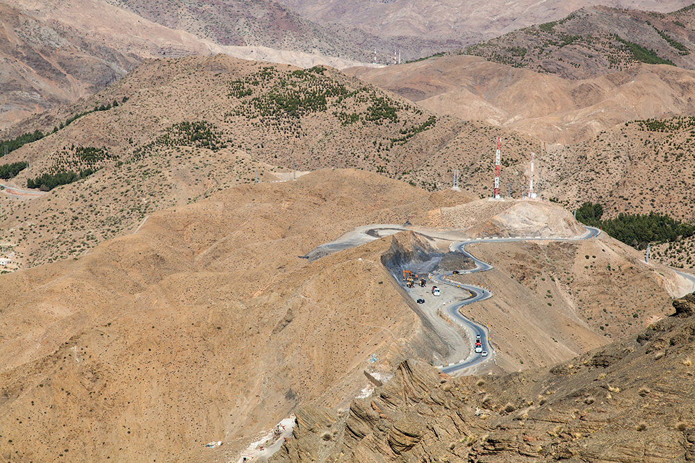 Tichka Pass im Atlas-Gebirge