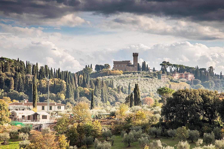 Ausblick in die Toskana