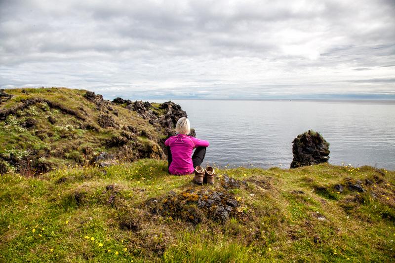 Ausblick am Coastal Walk nach Hellnar