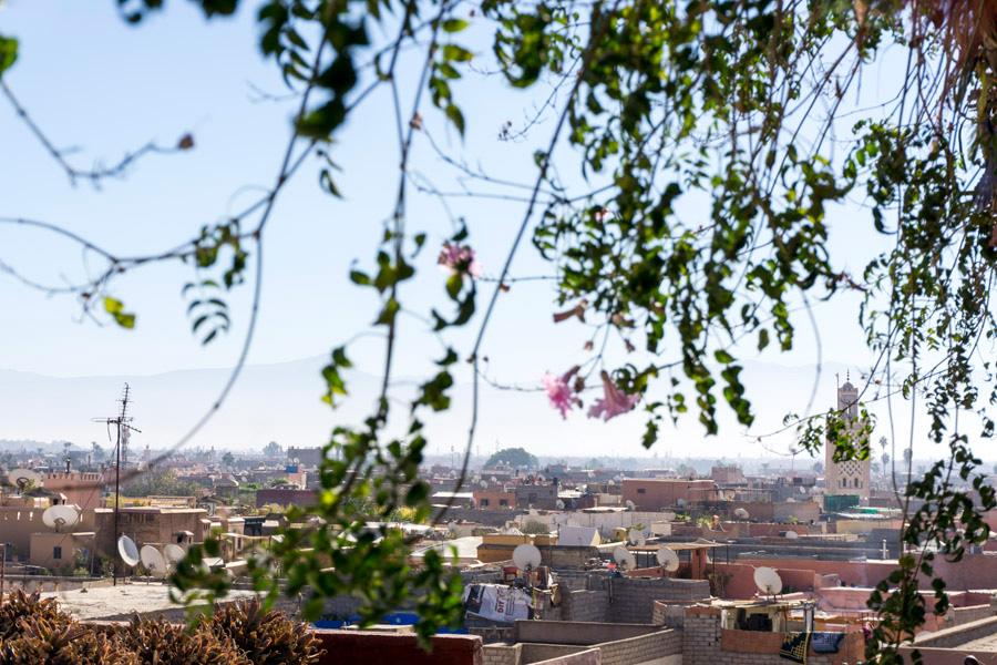 Ausblick auf die Marrakesch Medina