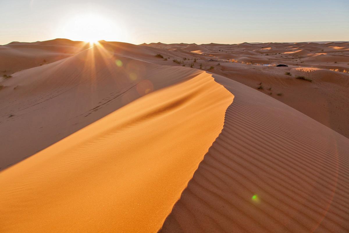 Sanddüne in der Erg Chebbi