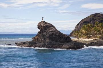 einsame Insel auf der Fidschi Reise