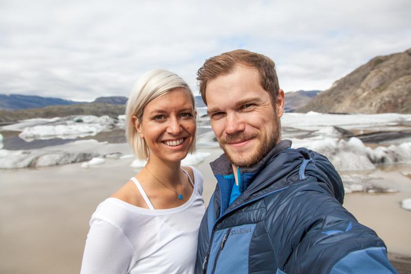 Selfie am Hoffellsjökull