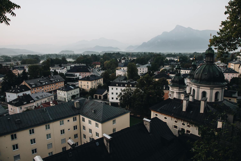 Ausblick vom Kloster Nonntal