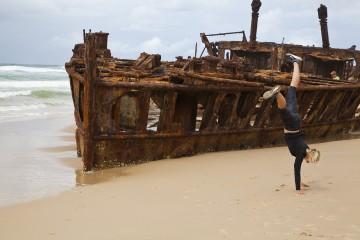 Maheno Wrack auf Fraser Island
