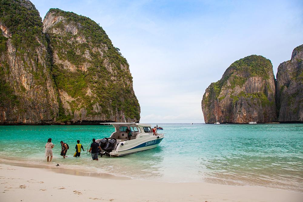 Maya Bay mit dem Speedboot