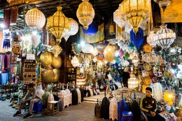 Souks in der Medina von Marrakesch