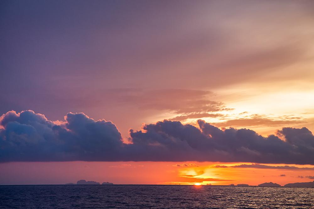 Sonnenaufgang in Thailand