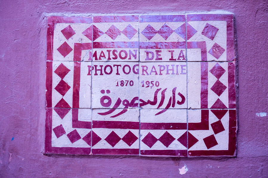 Schild der Maison de le Photographie
