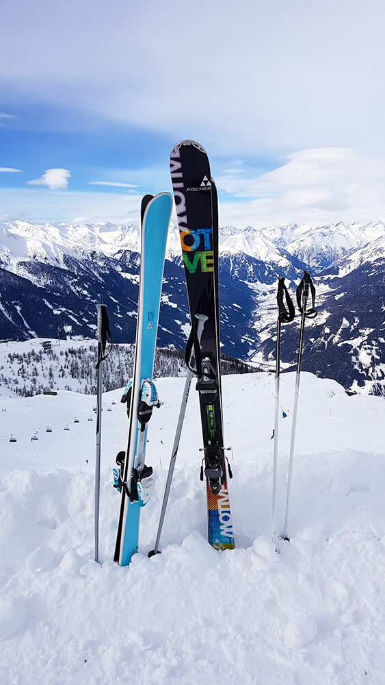 Pause vom Ski fahren