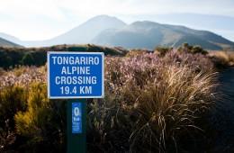 Tongariro Alpine Crossing Sign